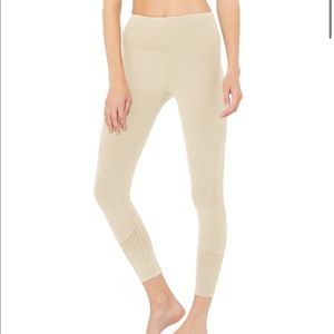 Alo Sandstone Lounge legging NEW with tags! Size S